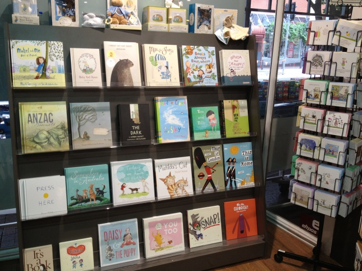 Lovely new picture books displayed beautifully make me want to buy them all!