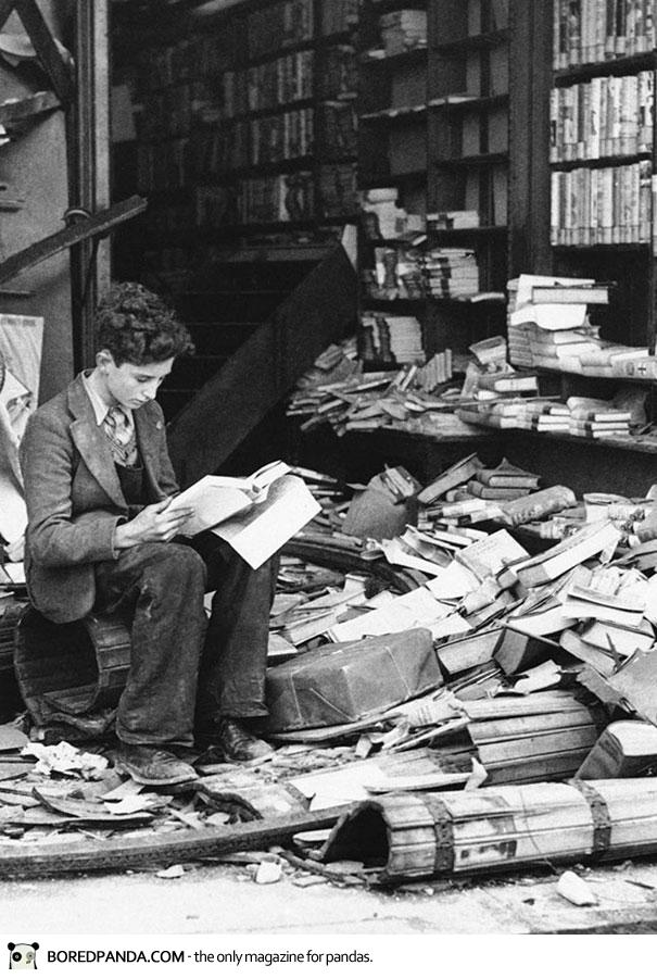 ruined bookstore