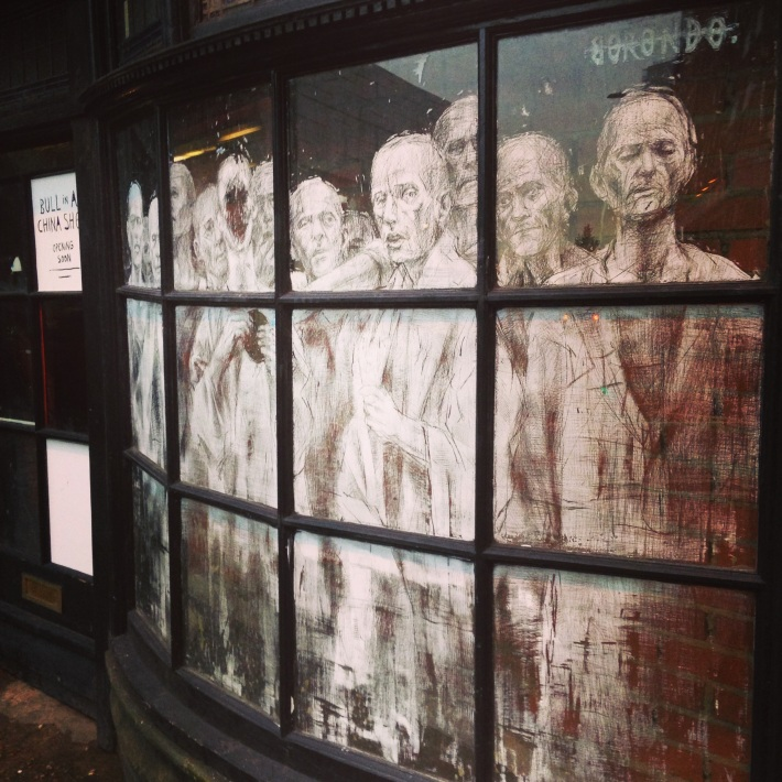 Street Art (window art?) in Spitalfield - they reminded me of the ghosts from A Christmas Carol - perhaps because Lydia, the friend I was with, is a Dickens enthusiast